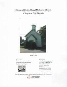 Orrick Chapel Report